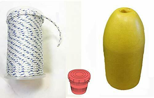 KUFA 5 x11   Yellow Bullet Float, 5 16  x 400' Non-Lead Rope & Bait Jar (PAM-1)  the newest