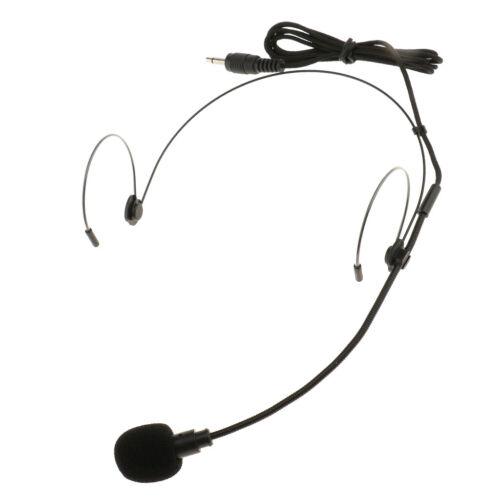 2 Stücke Kopfbügel Verkabelt Mikrofon Headset Mikrofon 3.5mm Ohr