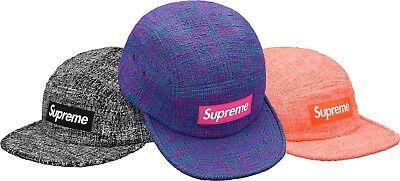 39122210767 SUPREME Boucle Camp Cap Blue Black box logo camp cap tnf S S 18