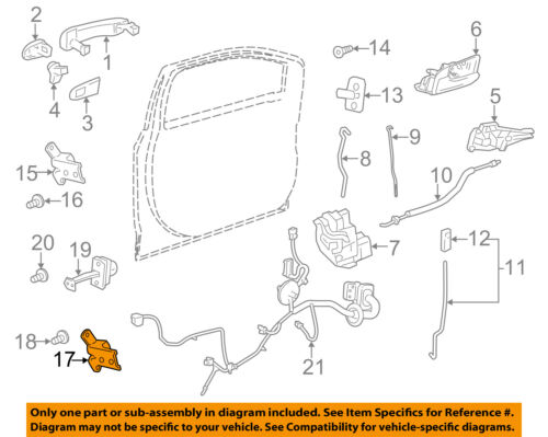 Chevrolet GM OEM 12-18 Sonic-Door Hinge-Lower Left 95493871