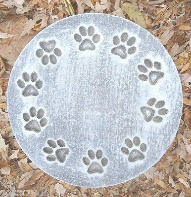 Ring of paw prints plaque mold plastic molud for plaster concrete casting