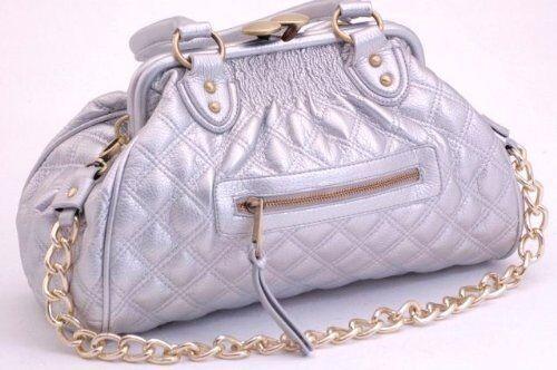 Womens Faux Leather Quilted Chain Strap Shoulder Messenger Handbag Purse Bag