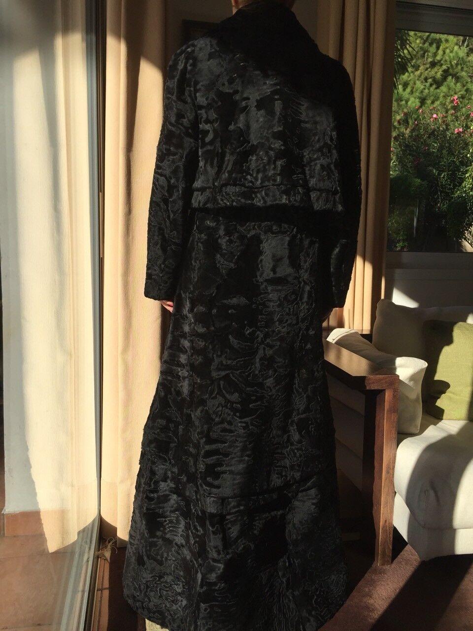 Hartnell designer coat/fur SZ SMALL MEDIUM - image 8