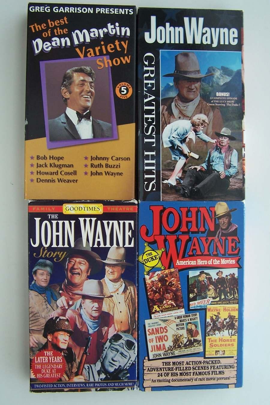 John Wayne Rare Movie Trailer Misc Video VHS 4 Tape Lot