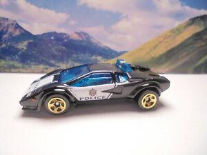Lamborghini Countach Police Car 2019 Hot Wheels Rescue Series Black