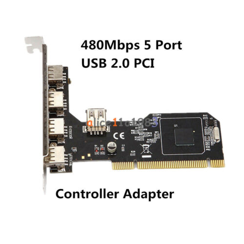 PCI//PCI-E Express 4Pin/&20Pin USB 2//3.0 2//4//5 Ports Panel Controller Card Adapter