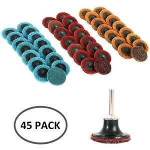 45Pcs-2-034-Medium-Grit-Roloc-Cleaning-Conditioning-Roll-Lock-Surface-Sanding-Discs