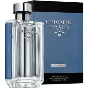 Detalles de Prada L'Homme L'Eau EDT Eau de Toilette Spray para hombres 100ml ver título original