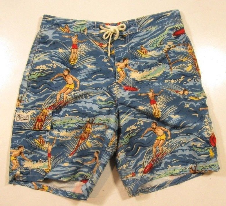 a46d393bd NWT Polo Ralph Lauren Swim Shorts Trunks Hawaiian Mens Big & Tall Sz 2XB NWT