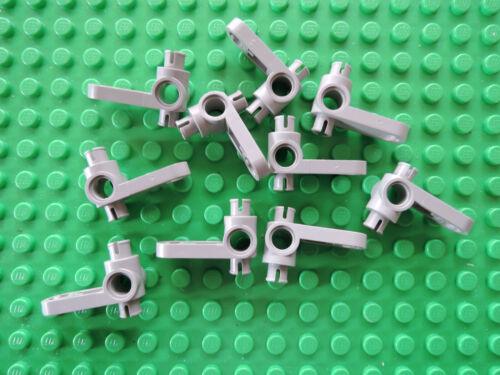 Lego 10 x Lenkung Steering Arm 4261 alt hellgrau