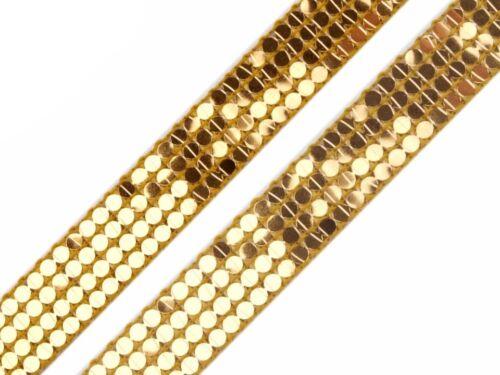 paillettenborte cenefa lentejuelas banda oro plata decorar aufnähen 5 13mm 1