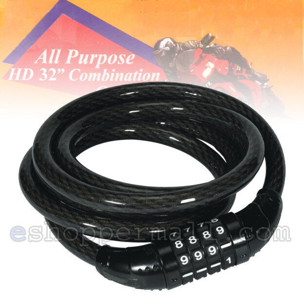 Bike Bicycle Cycling Security Cable 4-digit Combination Lock 1200 x 8mm