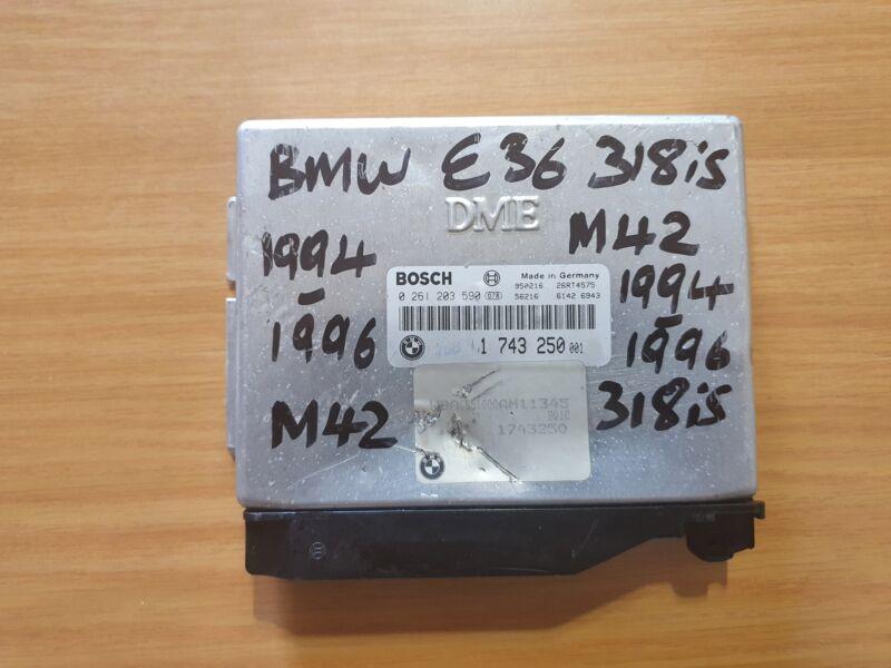 BMW E36 318is M42 1993-1996 Bosch ECU with part# DME 1 743 250