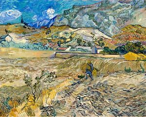 Landscape-at-Saint-Remy-by-Vincent-Van-Gogh-Giclee-Museum-Size-Repro-on-Canvas