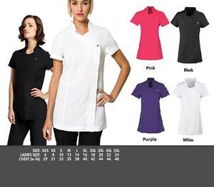 New-Blossom-Beauty-Tunic-Salon-Spa-Uniform-Nail-Massage-Therapist-Dentist-Nurse