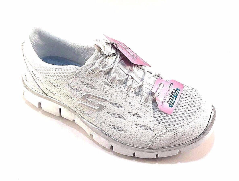 Skechers 22603 White Air Cooled Memory Foam Slip On Sneakers