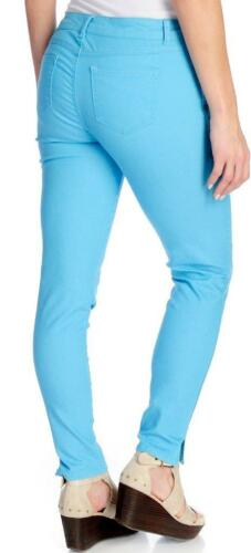 Kate /& Mallory® Stretch Woven Five-Pocket Button Front Slim Leg Jeans Sz 8 NEW