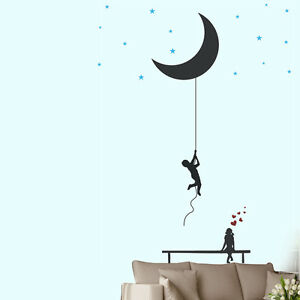 Image Is Loading 57122 Wall Stickers Catch The Moon And Stars Part 85