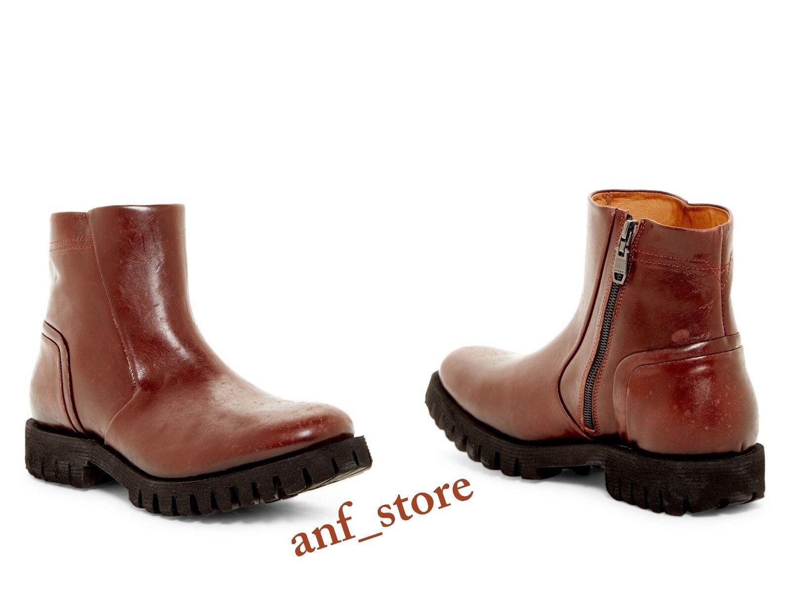 NIB Diesel Kross Uomo D-Line -Sherlock Uomo Kross Pelle BOOTS Shoes BROWN 12  295