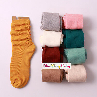 """""""Free Fly"""" 10 Pairs Pure Colors Womens Girls Long Loose Socks Cute Soft Casual"""