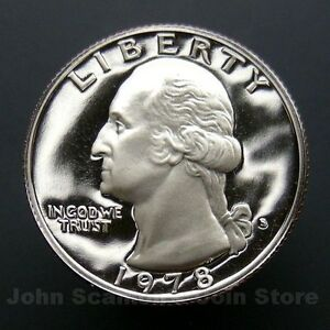 1996 S Washington Quarter Gem Deep Cameo Clad PROOF US Mint Coin