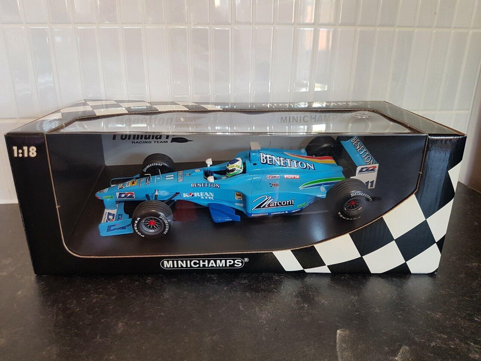 Minichamps 1 18 F1 Benetton Playlife Showcar 2000 G. Fisichella Great Condition