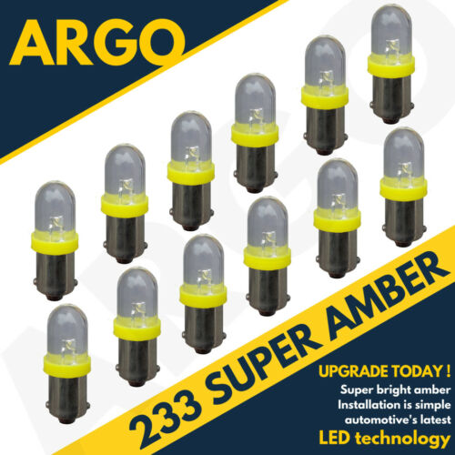 233 T4w Ba9s T11 Mcc Rw233 Super Led Xenon Power Amber Hid Sidelight Bulbs