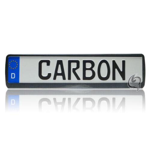 1x Carbon Kennzeichenhalter Audi A3 8L+8P+S3+A2+A4+A6 Tuning Kennzeichenrahmen