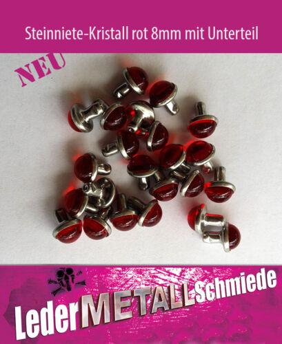 Nº 3 a –20 o piedra tachuelas 8x9,5mm color cristal-rojo redondo tachuelas,