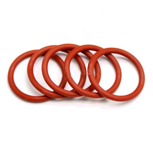 Food Grade ØAD=8~65mm 2mm Red Rubber O Ring Seal Plumbing Garage HIGH TEMP