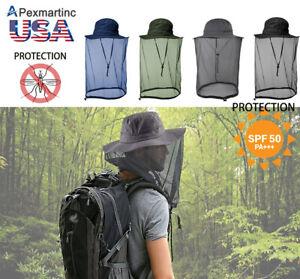 Outdoor-Mosquito-head-net-hat-Randonnee-Peche-Soleil-Abeille-Bug-Mesh-Face-Protection