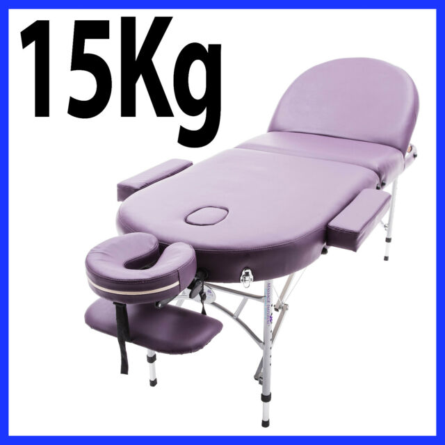 Astonishing Purple Alu Lite Portable Massage Table Bed Spa Reiki Couch Beauty Therapy Pad 1 Home Interior And Landscaping Eliaenasavecom