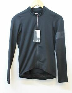 RAPHA-Men-039-s-Pro-Team-Long-Sleeve-Midweight-Jersey-Black-Cycling-Top-XS-NEW