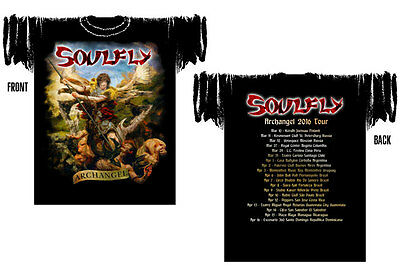 """SOULFLY """"Archangel 2016 Tour"""" Official Licensed Authentic HQ T-Shirt, Sepultura"""