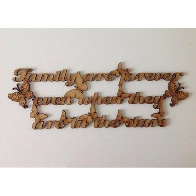 """Family Are Forever"""" With Butterflies wooden quote, wooden sign, A107"""