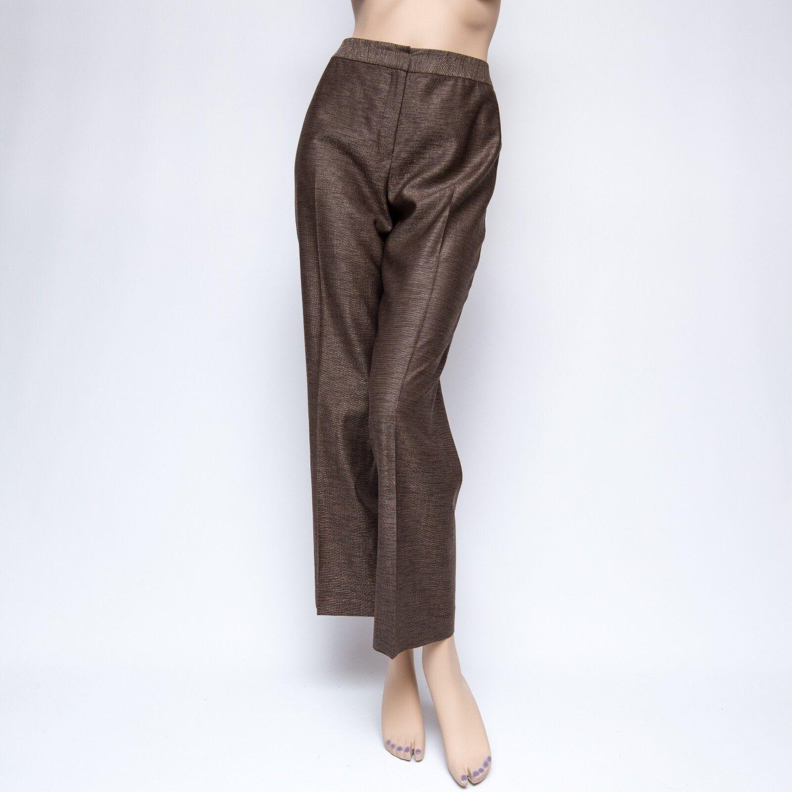 Lafayette 148 6x28 Brown Tweed Wool Unlined Dress Pants US6