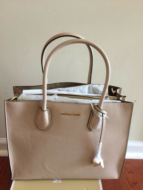 dc2735592f NWT Michael Kors Mercer Large Convertible Bonded Leather Tote Oyster