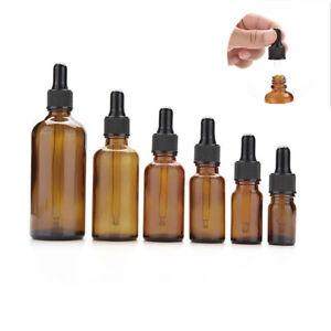 5-50ML-Empty-Glass-Dropper-Oil-Essential-Bottle-Refillable-Liquid-Pipette-Bottle