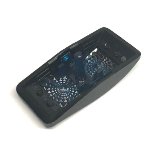 Euro Rocker Black Switch Cover with 1 Blue Lens 5 Pack Fits Carling Technolo...