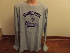 * Mens 4XL 4X NIKE NFL 100% Cotton Minnesota Vikings Long Sleeve T-Shirt Gray