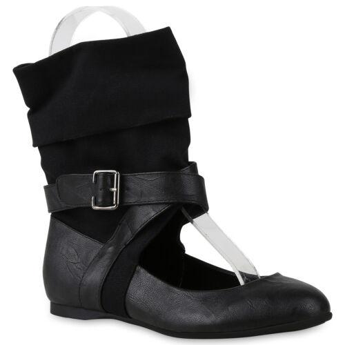 Extravagante Damen Sandalen Stulpen Cut-outs Sock Boots Flats 816489 Trendy Neu