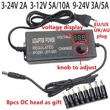 Universal Acdc 3v 5v 9v 12v 2a 5a 22v Adjustable Led Supply Power Adapter 24v