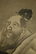 Hanging Scroll Japanese Painting Japan Sage Asian Art Old ink 蕭白 曽我 Kakejiku y82