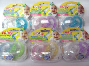 NUBY-NATURAL-FLEX-ORTHODONTIC-SOOTHER-6-18M-2-IN-PACK-6-COLOURS-CHOICE-BPA-FREE