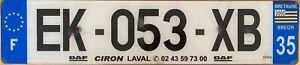 France Dept 35 Region Bretagne Licence License French Number Plate EK-053-XB