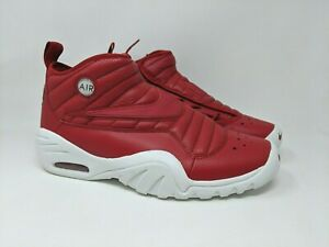newest 776dd 87813 Nike Air Shake Ndestrukt Men's Red Leather Basketball Shoes 880869 ...