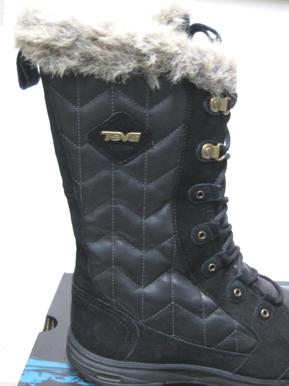 Teva Lenawee WP Black Women Boots US10 UK8 UK8 UK8 EU41 JP26.5 c16c28