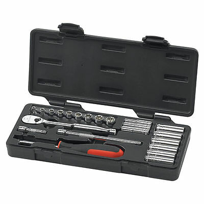 NEW GearWrench 6 & 12 Point Metric Socket Set 22 Pack