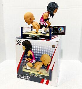 Wrestlemania 13 Bret Hart Stone Cold Steve Austin Bobblehead WWE Wrestling