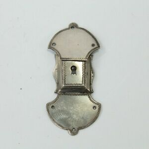 Lock plate clasp antique Georgian white metal miniature early 19th century #2